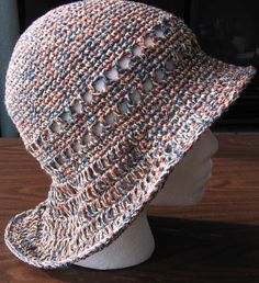 Free Crochet Fireman Style Brim Hat Pattern. Would be nice for summer.