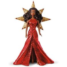 2017 African-American Holiday Barbie Ornament ($20) ❤ liked on Polyvore featuring home, home decor, holiday decorations, holiday decor, holiday christmas ornaments, holiday ornament and inspirational home decor
