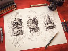 Simply amazing • Mike | Creative Mints - Steampunk logos on Dribble and more amazing stuff at http://instagram.com/emotionslive