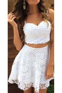 Two Piece Prom Dresses#TwoPiecePromDresses Lace Prom Dresses#LacePromDresses Short Prom Dress#ShortPromDress Custom Prom Dresses#CustomPromDresses