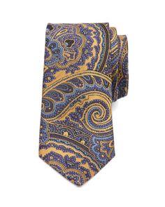 Paisley silk tie - Yellow | Ties & Bow Ties | Ted Baker UK