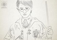 potter harry line easy fan pretty illustration drawing digital actually visit check personal daisy illustrations doing youtu afkomstig van