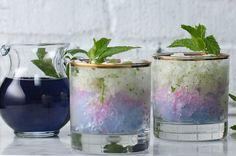 Impress Your Friends With This Color-Changing Frozen Mojito