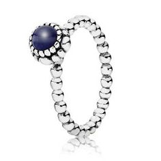Spring 2012 Collection  September Birthstone Ring with Lapis Lazuli in Sterling Silver