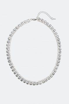 Kjøp halskjede dekorert med små og store glassteiner i nettbutikken på Glitter.no! Glitter, Diamond, Store, Jewelry, Metal, Jewlery, Jewerly, Larger, Schmuck