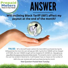 Answer 23: Will inclining block tariff (IBT) affect my payout at the end of the month?