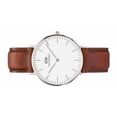 The Daniel Wellington watch with its interchangeable straps speaks for a classic and timeless design suitable for every occasion. Daniel Wellington Classic Sheffield, Daniel Wellington Women, Elegant Watches, Beautiful Watches, Durham, Brown Band, Gifts For Mum, Bracelets, Rose Gold
