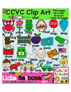 Clip Art- CCVC Graphics in Color and B/W