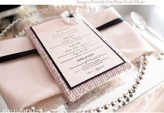 Chanel Wedding Inspiration / Black and Pink Elegant Wedding / Pam Scott Photo / Karen Tran Events / J. Wedding Goals, Wedding Menu, Elegant Wedding, Wedding Blog, Wedding Cards, Pink Black Weddings, Fuschia Wedding, Floral Wedding, Chanel Wedding