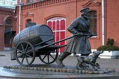 Памятник водовозу. Санкт-Петербург. Россия.