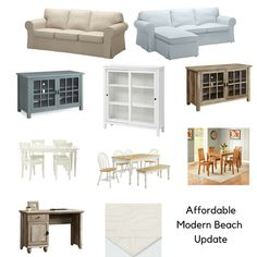 Affordable Furniture Perfect for a Beachy Living Room or Family Room