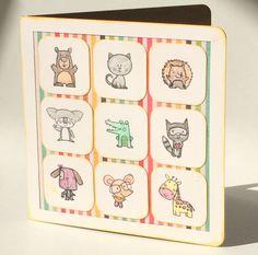 Using CTMH animal greetings stamp set.