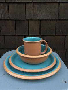 Italy Pottery Dinnerware set Yellow Green by NewEnglandReflection | Винтажные эмалированные кофейники и кувшины | Pinterest | Dinnerware ... & Italy Pottery Dinnerware set Yellow Green by NewEnglandReflection ...