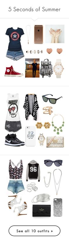 """5 Seconds of Summer"" by oreed2000 ❤ liked on Polyvore featuring Converse, Ted Baker, Forever 21, Kendra Scott, Wet Seal, women's clothing, women, female, woman and misses"