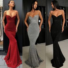 Spaghetti Strap Mermaid Sexy Popular Long Evening Prom Dresses on Luulla Prom Outfits, Grad Dresses, Prom Party Dresses, Ball Dresses, Wedding Dresses, Sorority Dresses, Dress Party, Occasion Dresses, Cheap Dresses
