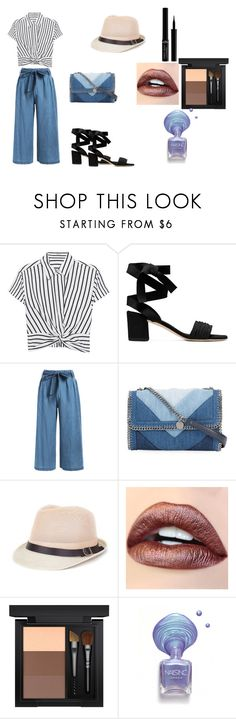 """""""Jazzy in NYC"""" by braceface04 ❤ liked on Polyvore featuring T By Alexander Wang, STELLA McCARTNEY, MAC Cosmetics and Giorgio Armani"""