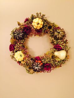Handmade wreaths and crafts by LuckySophieCrafts Thanksgiving, Wreaths, Fall, Unique Jewelry, Handmade Gifts, Crafts, Etsy, Beautiful, Ideas