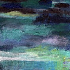 Abstract Featured Images - Night Swim- abstract art  by Linda Woods