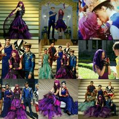 LOVE these pics! LOVE these pics! Descendants Mal And Ben, Descendants Wicked World, Descendants Characters, Disney Channel Descendants, Descendants Cast, Dove Cameron Descendants, Disney Dream, Disney Fun, Funny Disney
