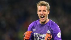 Jonas Lossl: Everton set to sign Danish goalkeeper from Huddersfield BBC Football Bbc Football, Football Transfers, Contract Agreement, Goodison Park, Everton Fc, Goalkeeper, Premier League, Danish, Sign