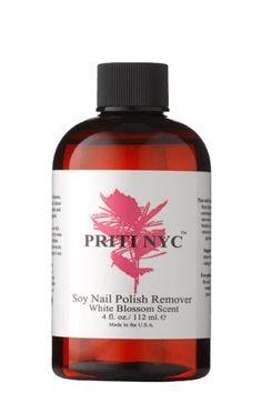 Priti NYC White Blossom Soy Nail Polish Remover | Credo | Credo Beauty