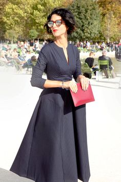 this is gorgeous. i want to find a similar pattern! Paris Street Style 2012 - Paris Fashion Week Spring 2013 Style - ELLE