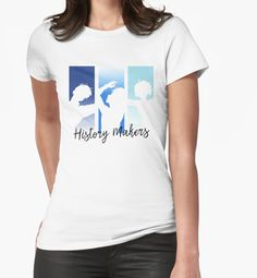 """""""History Makers"""" Womens Fitted T-Shirts by GinHans 