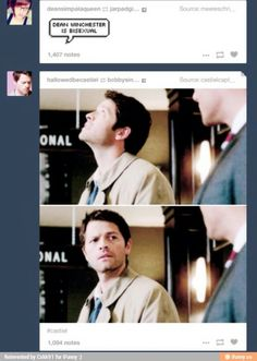 I read somewhere that Dean may in fact be bisexual and I'm alright with that.