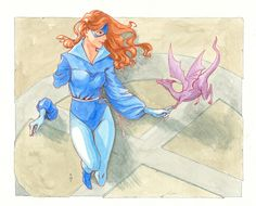 Shadowcat and Lockheed by Olga Ulanova Comic Art
