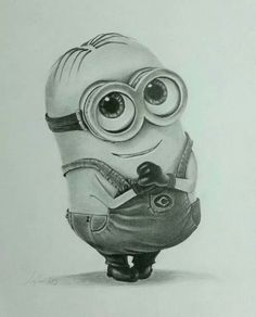 Pencil drawing minion This is goals