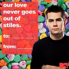 Stiles Stalinski of Teen Wolf Inspired Valentine's Day Card. #TeenWolf