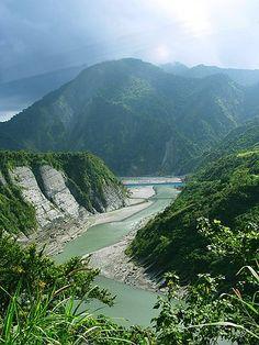 Shiukuluan River in Hualien County
