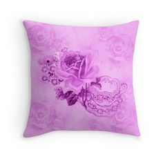 #LovelyPink #VintageTeacup&Flowers #ThrowPillow by #MoonDreamsMusic