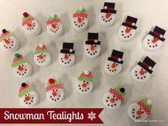*Snowman Tealights*