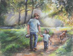 Fishing Father Son (daughter : )  )  sports FISHING WITH MY DAD boy by LaurieShanholtzer,