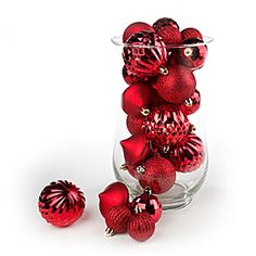Red Glitter & Shine Shatterproof Ornaments, 50-Count at Big Lots.