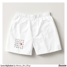 Love Alphabet Boxers - Dashing Cotton Underwear And Sleepwear By Talented Fashion And Graphic Designers - #underwear #boxershorts #boxers #mensfashion #apparel #shopping #bargain #sale #outfit #stylish #cool #graphicdesign #trendy #fashion #design #fashiondesign #designer #fashiondesigner #style