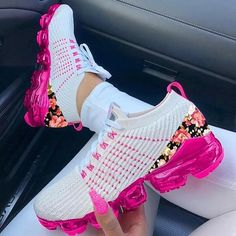 Style: Daily, Casual   Item: Sneakers   Toe: Round Toe   Closure Type: Lace-Up   Heels: Platform Cute Nike Shoes, Cute Nikes, Nike Air Shoes, Nike Air Max, Jordan Shoes Girls, Girls Shoes, Nike Ladies Shoes, Teen Shoes, Ladies Sneakers