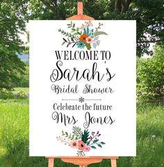 Printable Sign, Bridal shower, Bridal shower Decor, Wedding Signs Printable…