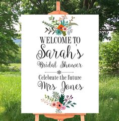 Printable Sign Bridal shower Bridal shower by customprintstudio