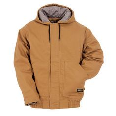 cde91855cb Berne FR Quilt Lined Hooded Jacket Berne, Men's Outerwear, Rib Knit, Hooded  Jacket