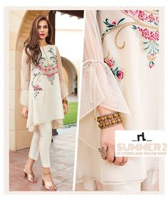 linen Lawn Eid Catalog 2020 latest nishat designer of lawn and chiffon eid collection with price. Nisha Eid Collection By Nishat Linen off sale now shop online Simple Pakistani Dresses, Pakistani Fashion Casual, Indian Fashion Dresses, Pakistani Dress Design, Indian Designer Outfits, Pakistani Outfits, Stylish Dresses For Girls, Stylish Dress Designs, Casual Dresses