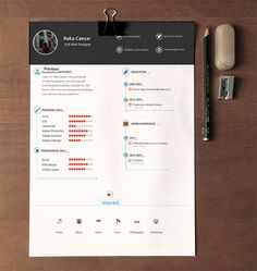 Download Free Resumes Interesting 20 Beautiful & Free Resume Templates For Designers  Template