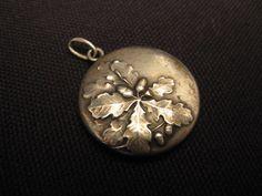 Medaillon Jugendstil Anhänger FLORAL 800 Silber Amulett Silberanhänger !!!