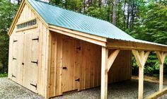14' x 20' One Bay Garage with optional overhang and double doors. Available as shed kits (estimated assembly time - 2 people, 30 hours), diy shed plans ($50), or a custom fully assembled garage. http://jamaicacottageshop.com/shop/one-bay-garage/ http://jamaicacottageshop.com/wp-content/uploads/pdfs/pdf14x20onebaygarage.pdf