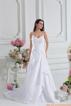 Elegante traje de novia de tafetan 2014