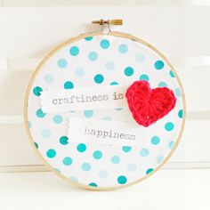 Embroidery Hoop by HopscotchLaneShoppe on Etsy