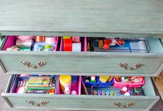Our all-in-one craft drawer - Four Generations One Roof Love this! But I would need an entire chest and dresser!