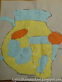 Homemade Mosaic Art inspired by Ancient Greece at Highhill Education