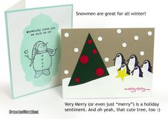 winter and Christmas cards